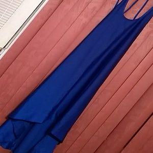 Royal blue BCBG gown